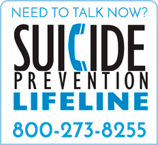 Suicide Prevention Lifeline graphic